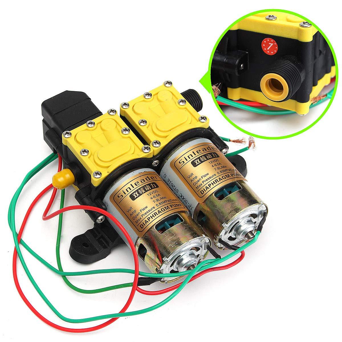 CCChaRLes 8Lpm Dc 12V Diafragma Bomba De Agua Lavadora Autopriming ...