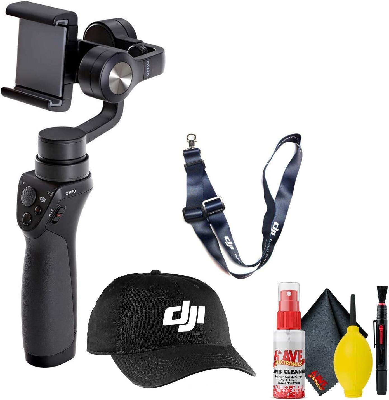 DJI Baseball Cap + DJI Lanyard Dark Blue DJI Osmo Mobile Gimbal Stabilizer Cleaning Kit + More Black