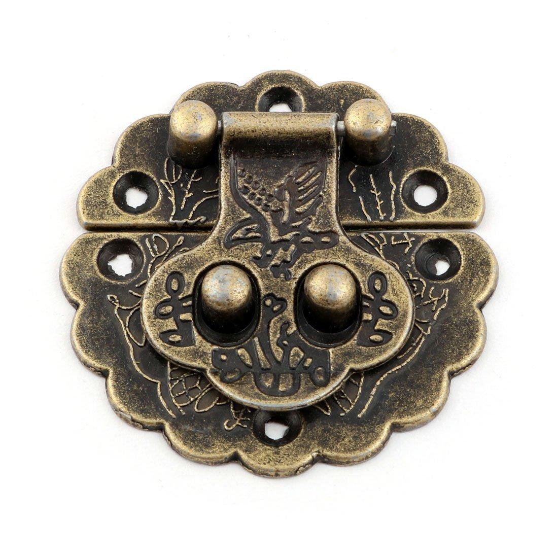 Amazon.com: eDealMax Estilo Vintage Maleta del Metal decorativo del cerrojo del pestillo de bloqueo DE 4 x 4 cm 4pcs tono de Bronce: Home & Kitchen