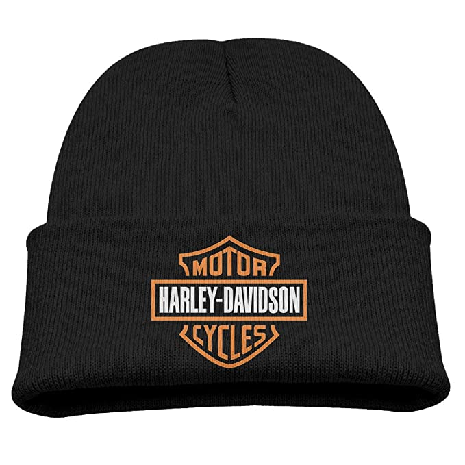 2f31facda1b9c Knit Caps Beanie Hats Harley Davidson Logo Trendy Soft Child  Amazon.ca   Clothing   Accessories