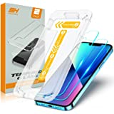 TEUMI Screen Protector Compatible with iPhone 13/iPhone 13 Pro 6.1 Inch 2021, [Upgraded Easiest Installation] [Case Friendly]