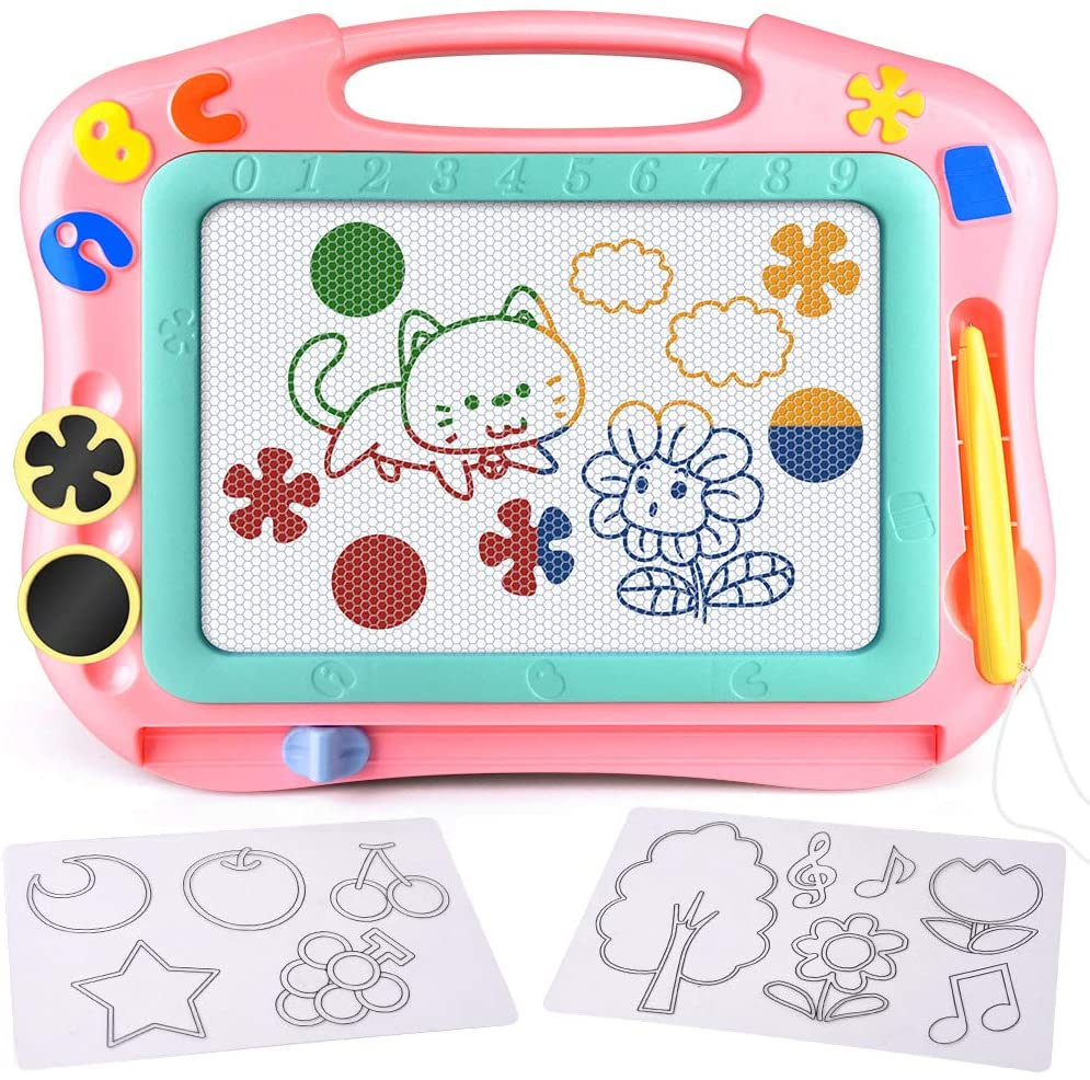 FLY2SKY Magnetic Drawing Board Kids Magna Doodle Board Travel Size Toddler Toys Sketch Writing Colorful Erasable Sketching Pad Holiday Birthday