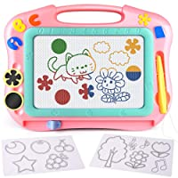 FLY2SKY Magnetic Drawing Board Kids Magna Doodle Board Travel Size Toddler Toys...
