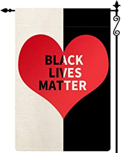 Forno Black Lives Matter Garden Flag - I Can't Breathe,Vertical Double Sided Black White Buffalo Check Plaid Rustic Farmland Burlap Yard Lawn Outdoor Decor 12.5x18 Inch