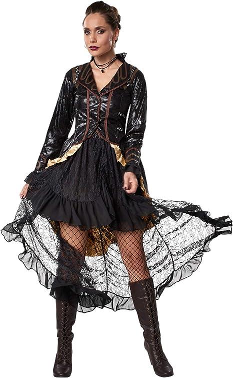dressforfun 900489 - Disfraz de Mujer Rebelde Steampunk, Atuendo ...