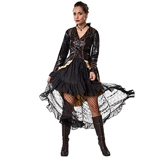 dressforfun 900489 - Disfraz de Mujer Rebelde Steampunk, Atuendo de Dos Piezas en Colores Oscuros (L   No. 302327): Amazon.es: Productos para mascotas