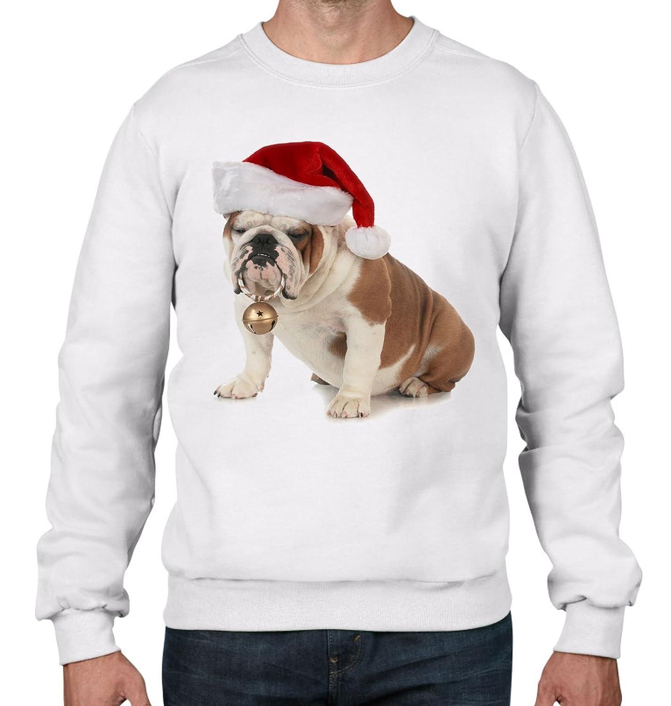 French Bulldog Christmas Jumper.Tribal T Shirts Men Bulldog With Santa Claus Hat Christmas Sweater