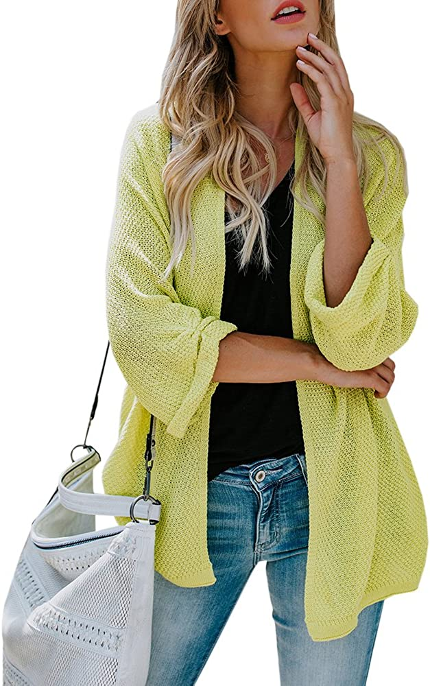 Women/'s Loose Casual Long Sleeve Open Front Breathable Cardigans Coat