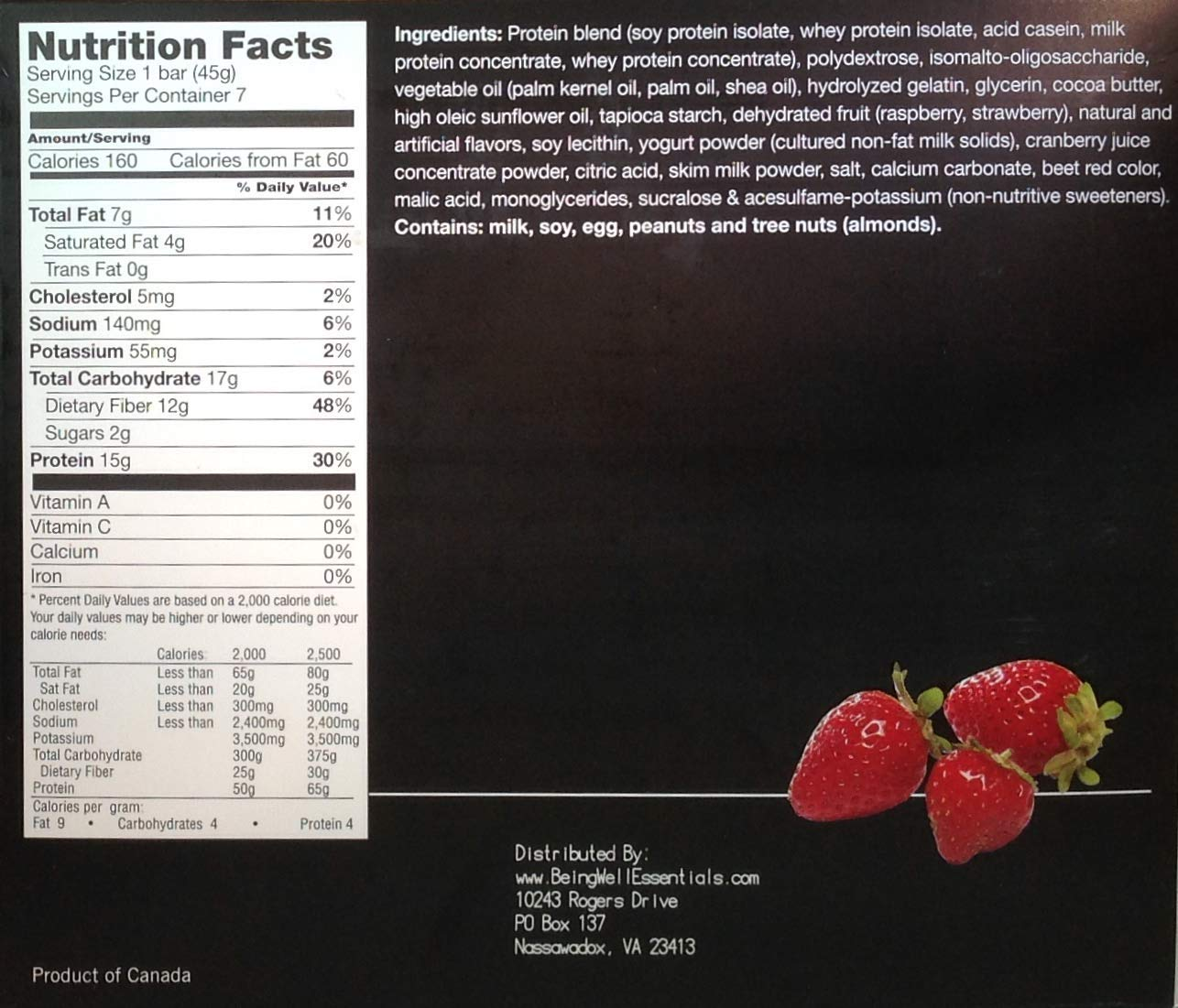Proti Kind Very Low Carb Strawberry Shortcake VLC Protein Bars - Full CASE - 84 Bars by Being Well Essentials (Image #2)