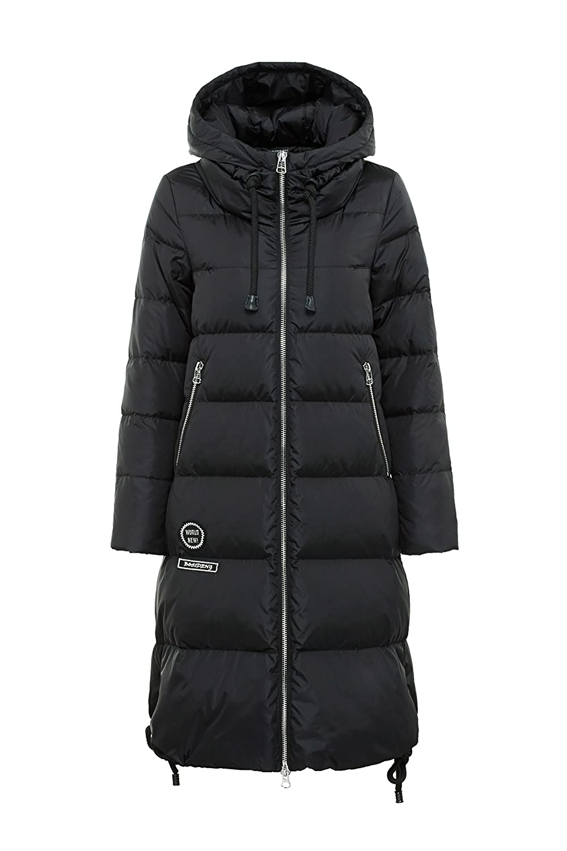Bosideng Damen Lange Daunenmantel mit Kapuze Perfekt für kalte Tage