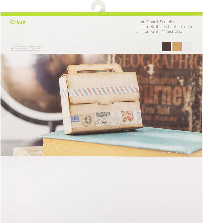 Multicolore Taille Unique Cricut /Échantillons de Carton Kraft