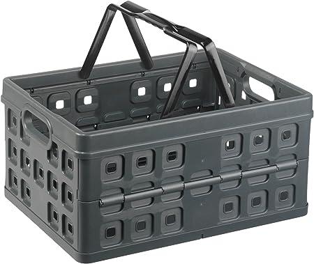 Sunware 57100636 - Caja Plegable de plástico (32 L, con asa): Amazon.es: Hogar