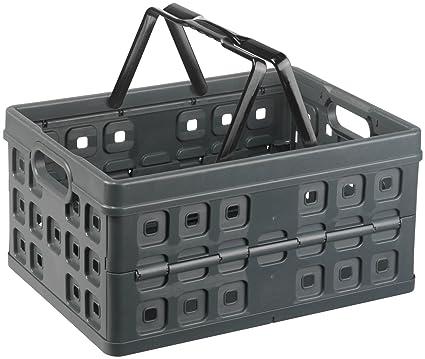 Sunware 57100636 - Caja plegable de plástico (32 L, con asa)