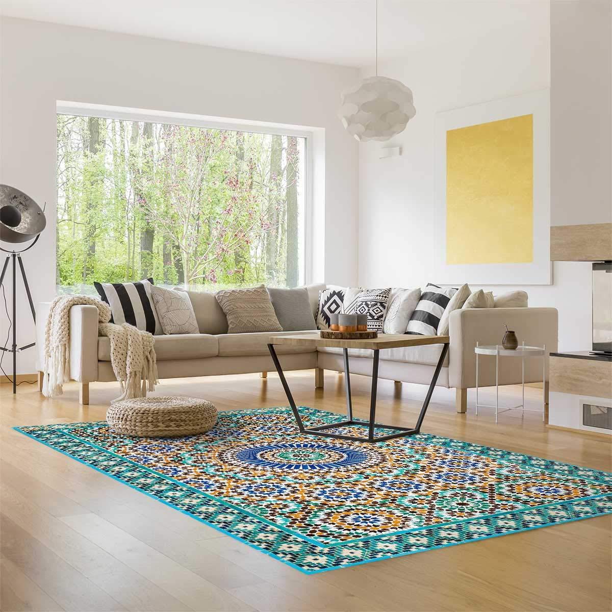 Myspotti - Buddy Chadi Rutschfeste Bodenschutzmatte aus Vinyl Badematte Küchenläufer Wohnzimmer Deko (180 x 68 cm) B07H5LTZCC Lufer