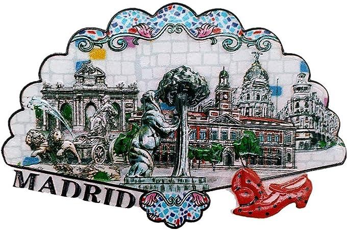 MUYU Magnet Imán 3D de Madrid España para Nevera, Regalo de Recuerdo, decoración del hogar y la Cocina, calcomanía magnética, colección Madrid España imán para Nevera: Amazon.es: Hogar