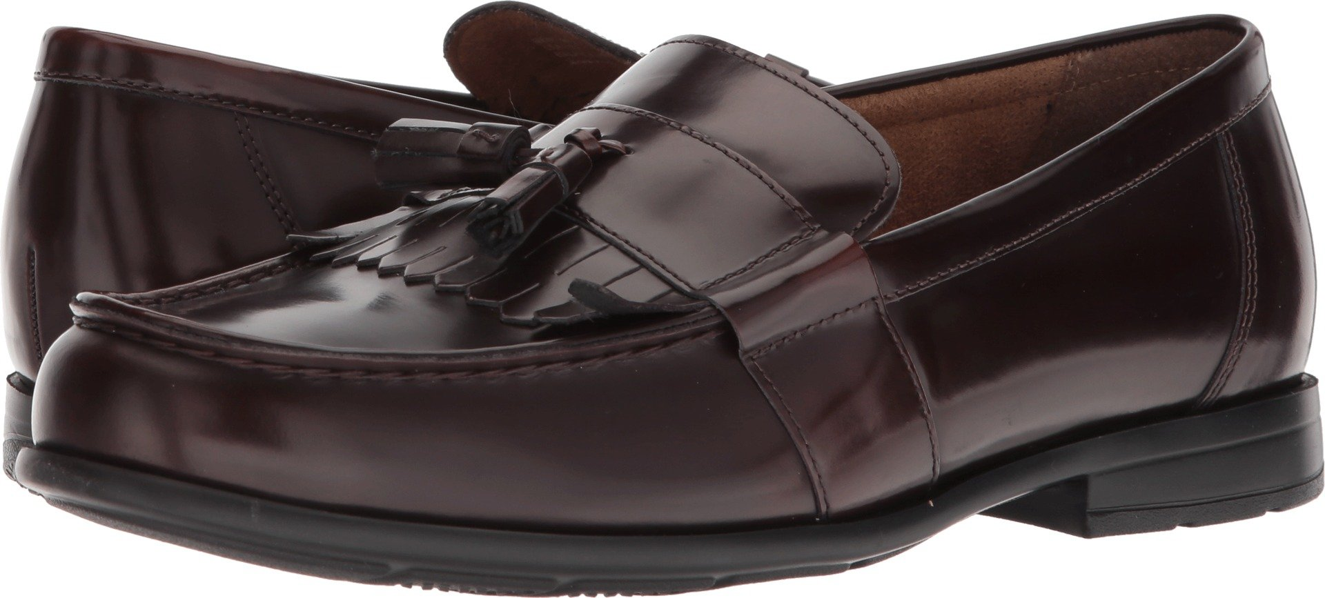 Nunn Bush Men's Denzel Moc Toe Kiltie Tassel Slip-On Loafer, Burgundy, 11 Wide US