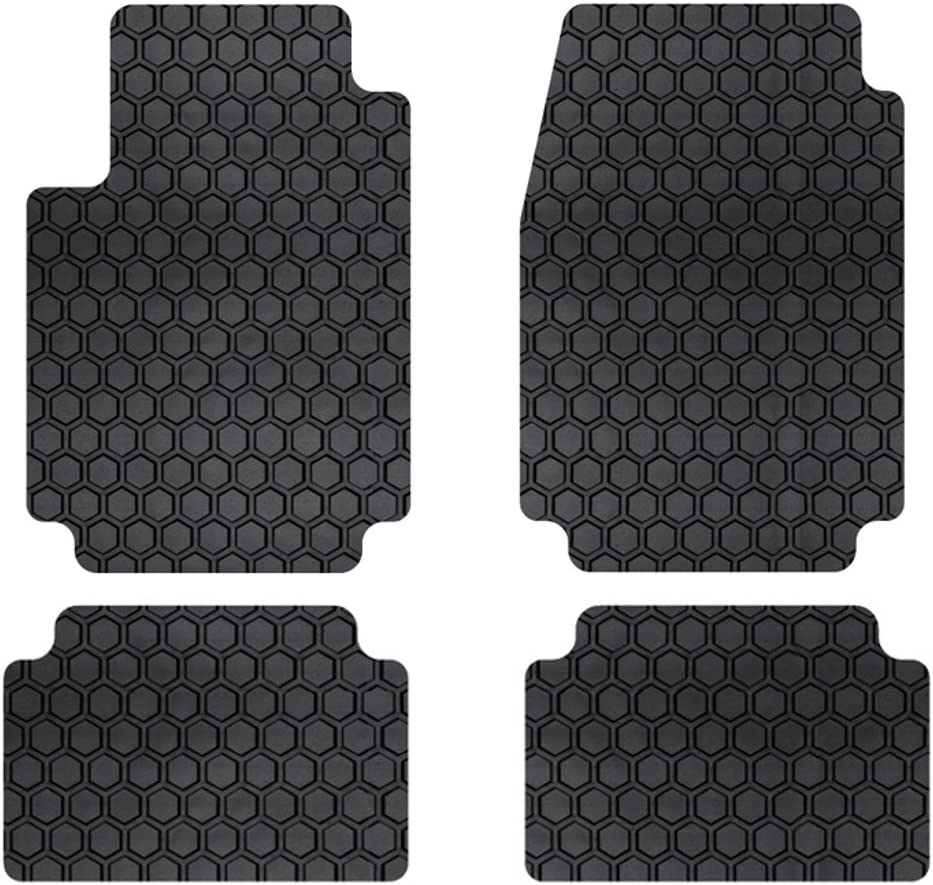 Custom Fit Auto Floor Mats for Select Honda Accord Coupe Models Rubber-like Compound Intro-Tech HO-681F-RT-B Hexomat Front Row 2 pc Black