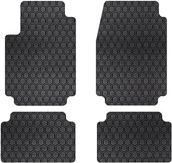 Pack of 2 Intro-Tech Hexomat Front Custom Fit Floor Mat - Tan