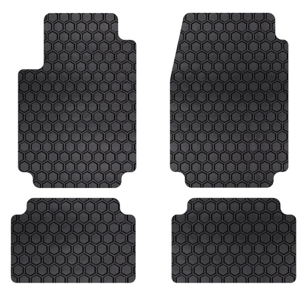 Intro-Tech Hexomat Front Custom Fit Auto Floor Mat - Set of 2 DD-397R-RT-T Black