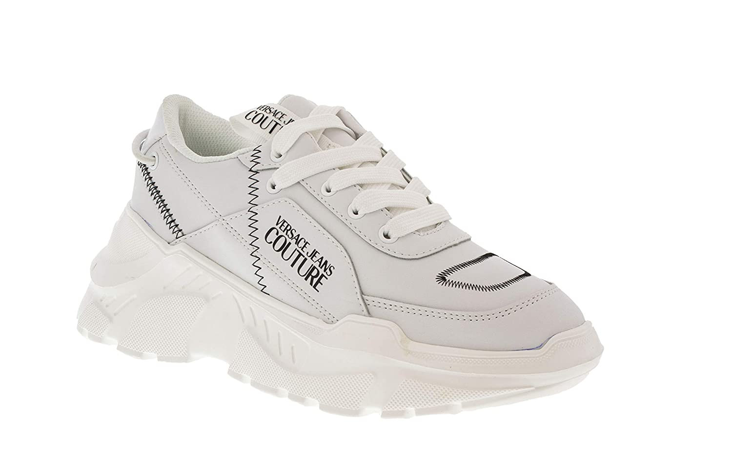 Versace Jeans Couture White Speed Fashion Chunky Sneakers for Womens