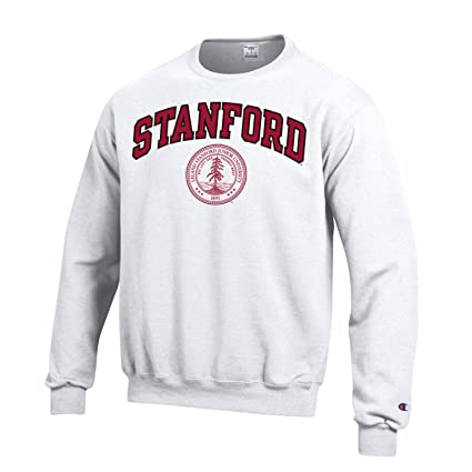 b1174a76 Amazon.com : Shop College Wear Stanford University Men's Arch & Seal Crew-Neck  Sweatshirt-White : Clothing