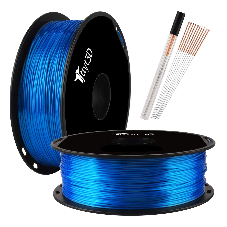 Filamento de impresora 3D PLA azul brillante, 1,75 mm, 1 kg ...