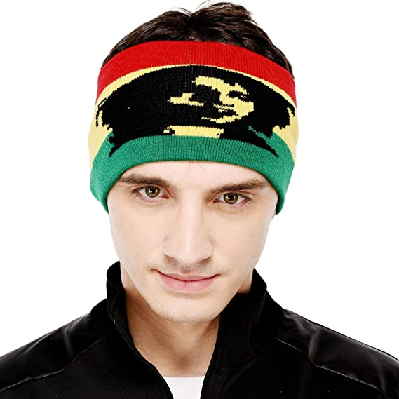 42f743f2c0b VR Designers Men s Woolen Bob Marley Headband (Multicolour)  Amazon.in   Clothing   Accessories