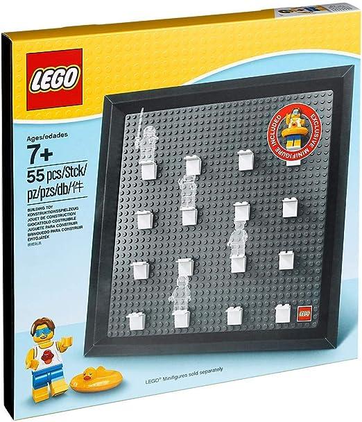 LEGO 5005359 Marco de exposición para Minifiguras (Incluye la minifigura Exclusiva de Tío de la Fiesta en la Playa): Amazon.es: Juguetes y juegos