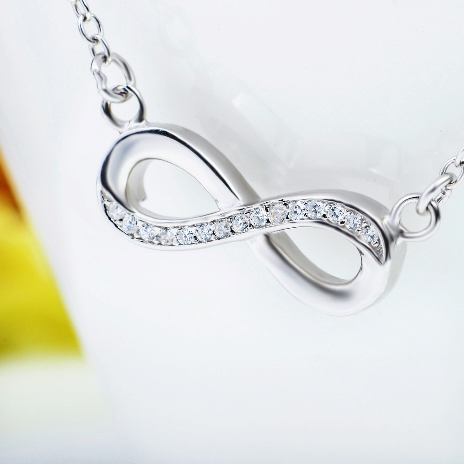 CS-DB Womens Necklaces by Silver Pendant Jewelry Cubic Zirconia Infinity Love Girls /& Charm