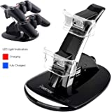 Insten LED 2 Port Dual Controller Charger Dock Station USB Hub Power Stand for PS3 Wireless Controller