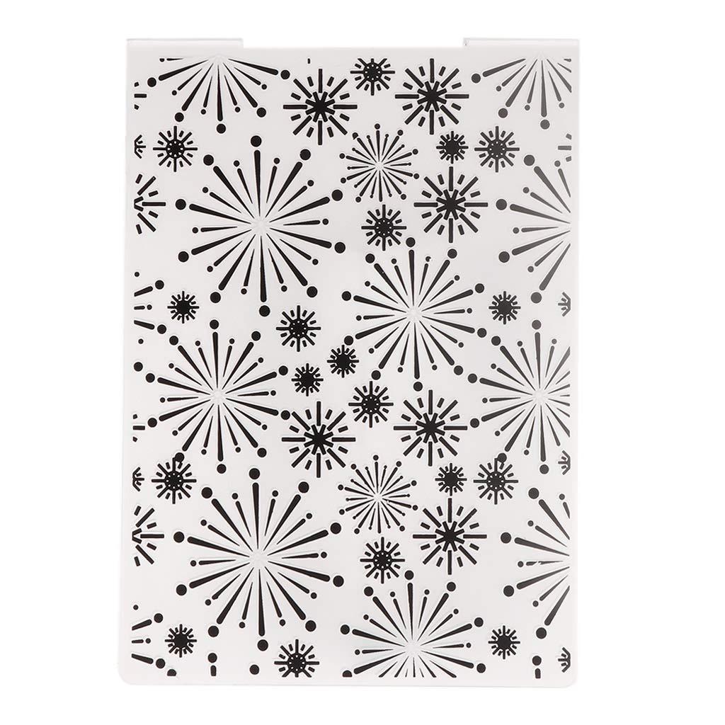 Yubusiness plastica goffratura modello per fai da te scrapbook photo album di carta artigianale di Natale fiocco di neve