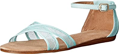 b3a04786da6 TOMS Women s Wedding Sandal Light Blue Lace Sandal 10 B ...
