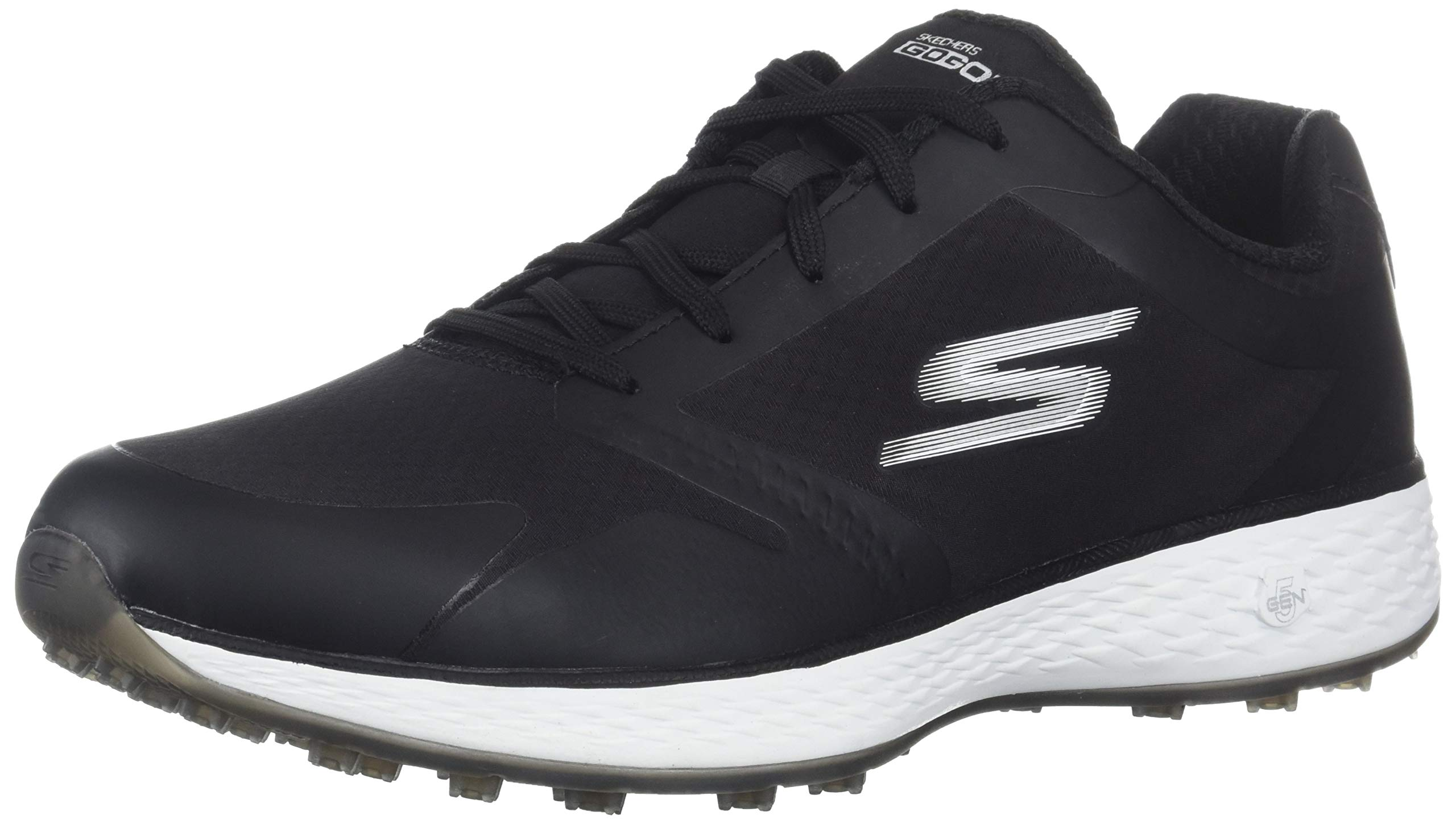 Skechers Women's Eagle Relaxed Fit Golf Shoe, Black/White, 8.5 M US