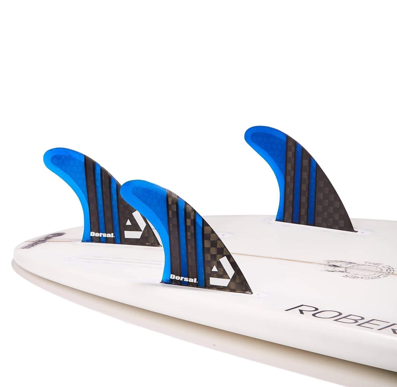 Dorsal Carbon Hexcore Honeycomb Thruster Surf Fins Blue Medium