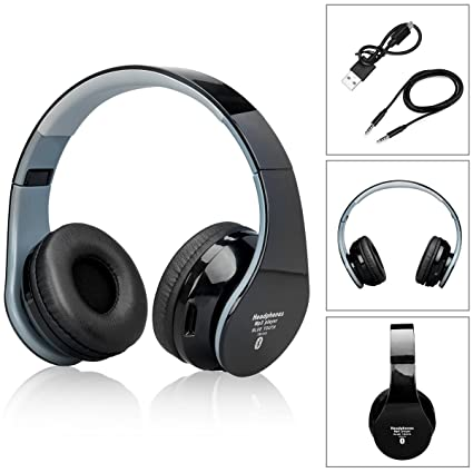 bluetooth headphones para auriculares sobre las orejas con 3.5mm cable de audio, auriculares Bluetooth