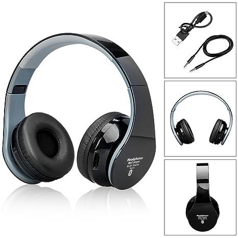bluetooth headphones para auriculares sobre las orejas con 3.5mm cable de audio, auriculares Bluetooth