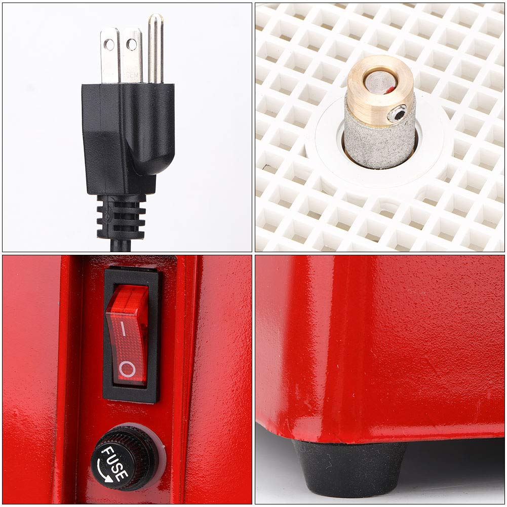 MD901+Bracket Glass Grinder Professional Power Stained Grinder Industrial Mini Automatic Portable Stained Ceramic Glass Grinder Water Machine DIY Desktop Grinding Tool 110V
