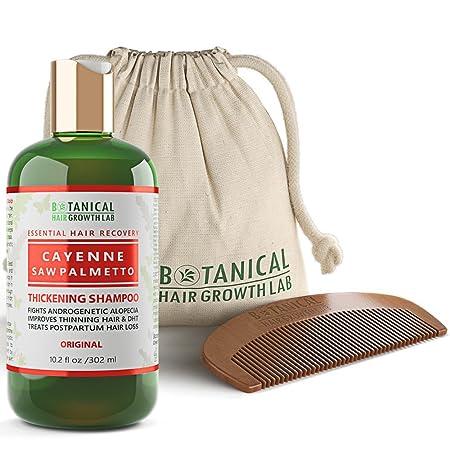 Botanical Hair Growth Lab Cayenne – Saw Palmetto Hair Loss Shampoo DHT Blocker For Hair Thinning Prevention Alopecia Postpartum 10.2 Fl Oz