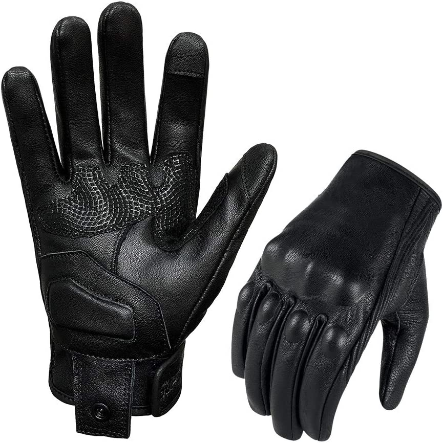 Superbike Goat Skin Leather Motorcycle Gloves