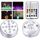 Creatrek Submersible LED Lights with Suction Cups and Magnets, Waterproof LED Light 16 Color Changing Pond Lights…