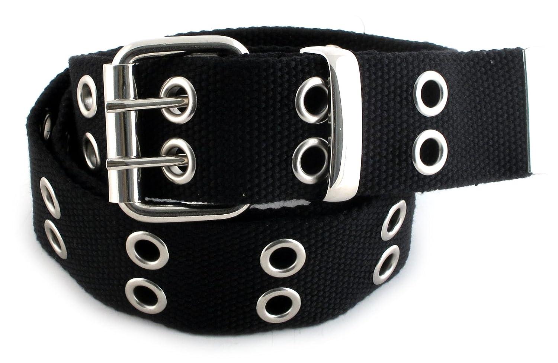 Valerie Stevens Women's 100% Polyester Black 2-prong Belt