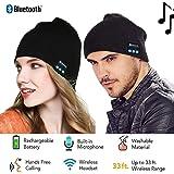 Cotop Fashion Bluetooth Knit Cappello Con Cuffie stereo e microfono caldo berretto morbido grossa Talking vivavoce per iPhone Samsung Android e iPad uomini e donne regalo di natale