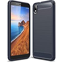 ZAPCASE Back Cover Case Compatible for Xiaomi Redmi 7A Cases & Covers (Carbon Fibre Rugged Armour Black Colour)
