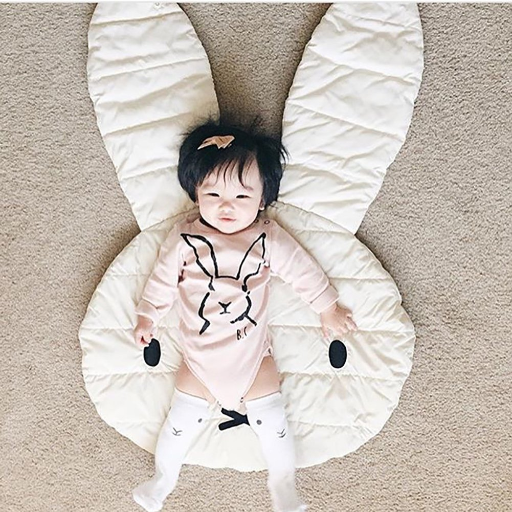 Smartcoco Lovely Rabbit Kids Play Game Cotton Mats Carpet Rugs Baby Crawling Blanket for Baby Room Floor Decoration Gifts, 42'' x 27''