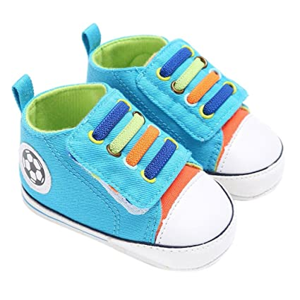7deed46e3dcc5 Amiley Summer Baby Shoes Boy Girl Newborn Crib Soft Sole Shoe Hook & Loop  Sneakers (Inches:5.1