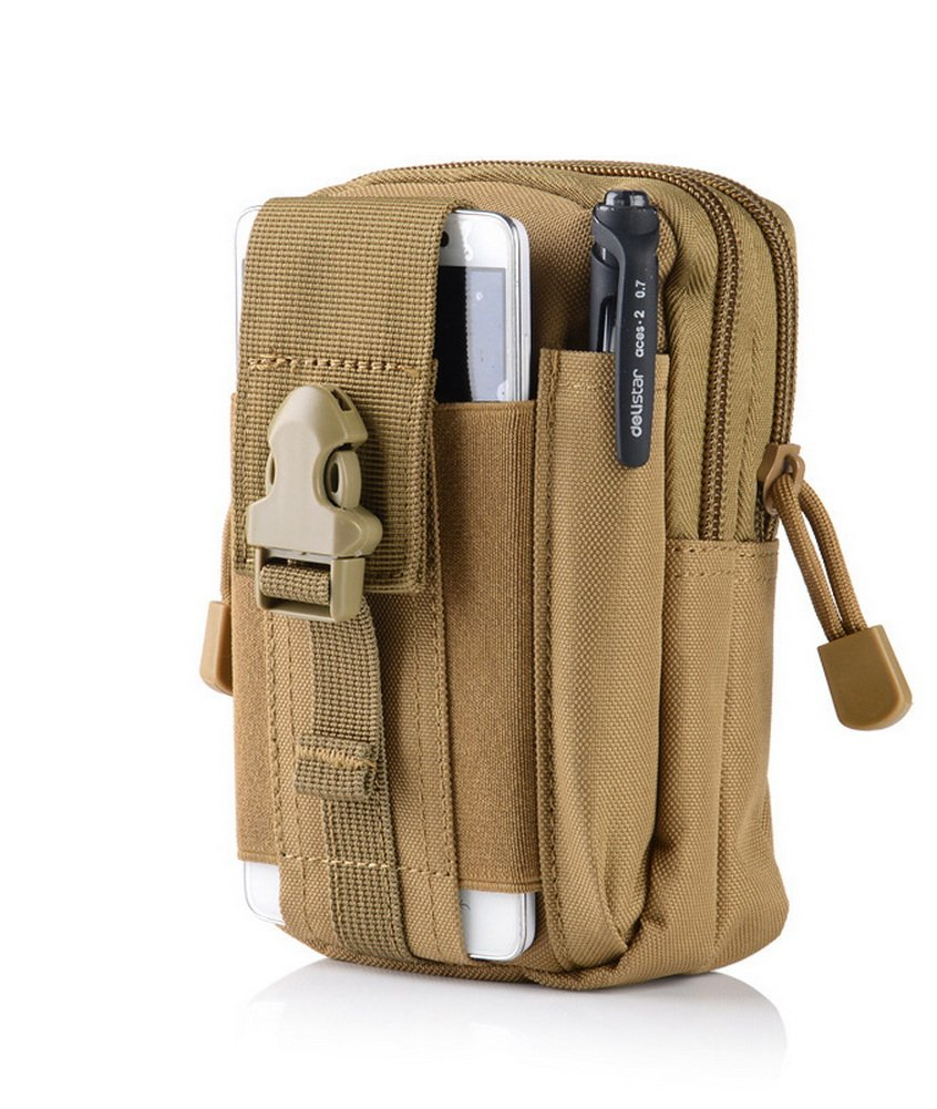 Crazy Cart Compact Tactical Sport Multi-functional Pouch EDC Utility Gadget Belt Waist Bag with Cell Phone Pack Gear Tools Organizer Camo Bag