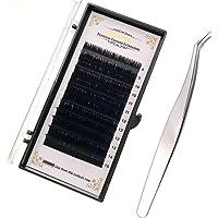 JZK 8mm-15mm mix lengte 0.07 C krul gemakkelijk fan Russische wimpers, met professionele pincet, zijde nerts volume…