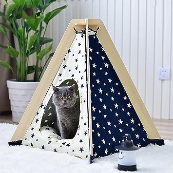 MEIQI Tienda De Campaña del Perro Casero Tienda De Campaña Portátil del Gato del Perrito con El Cojín: Amazon.es: Deportes y aire libre