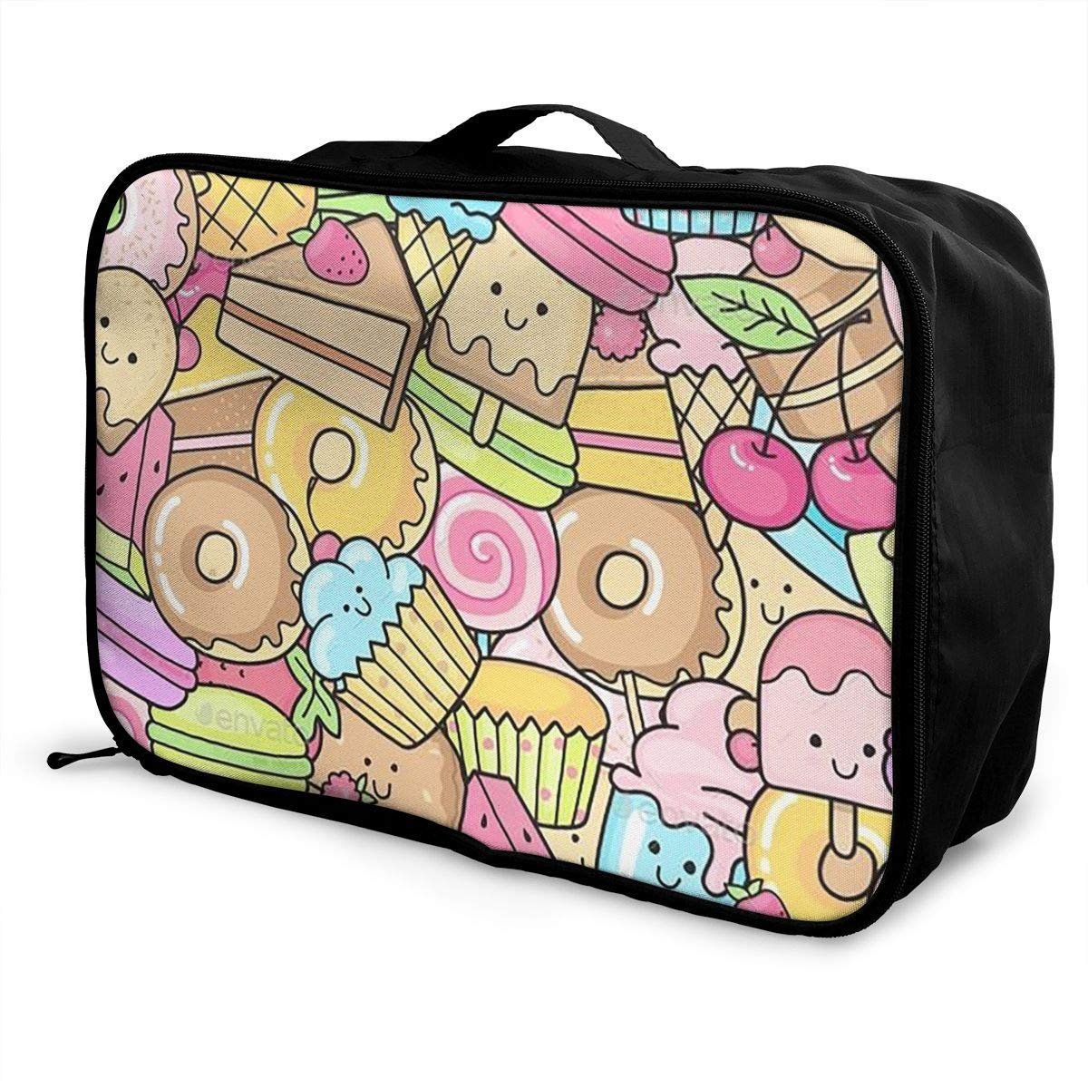 Portable Luggage Duffel Bag Dessert Travel Bags Carry-on In Trolley Handle