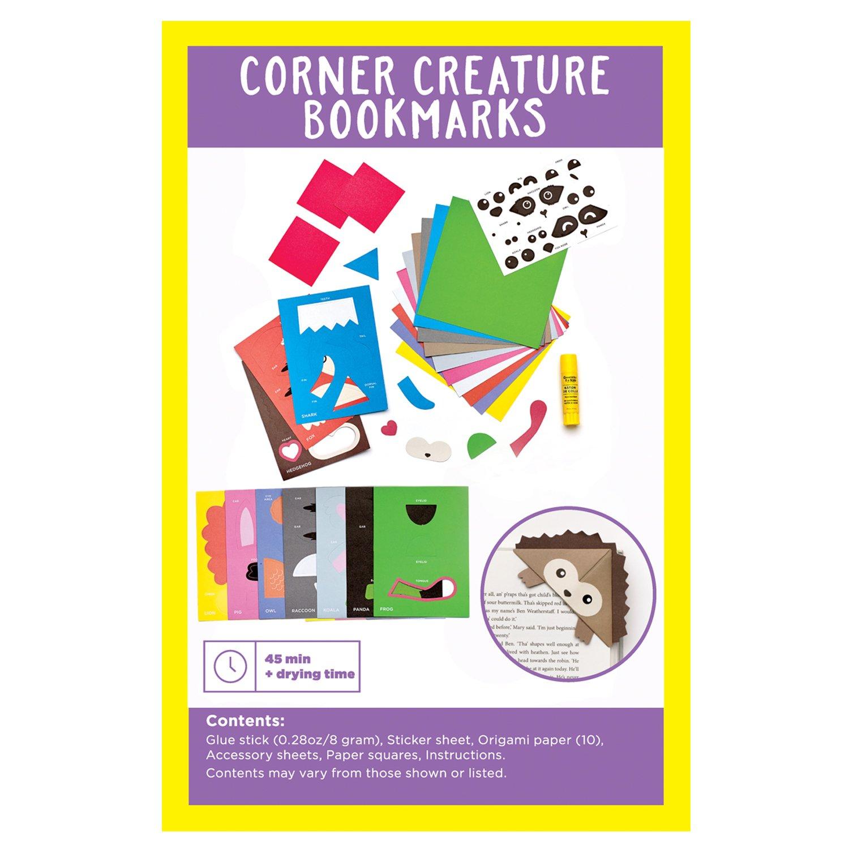 Amazon Creativity For Kids Corner Creature Fold Decorate 10 Simple Origami Bookmarks Toys Games